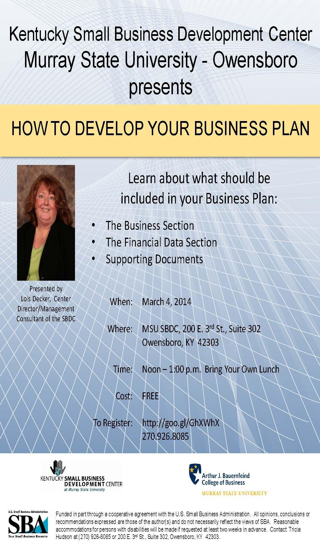 #training #MSUSBDC #businessplan