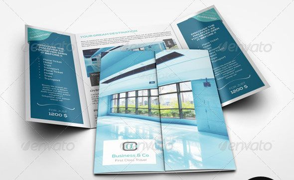 nice A4-Gatefold-Brochure-Mockup plaquette Pinterest - gate fold brochure mockup