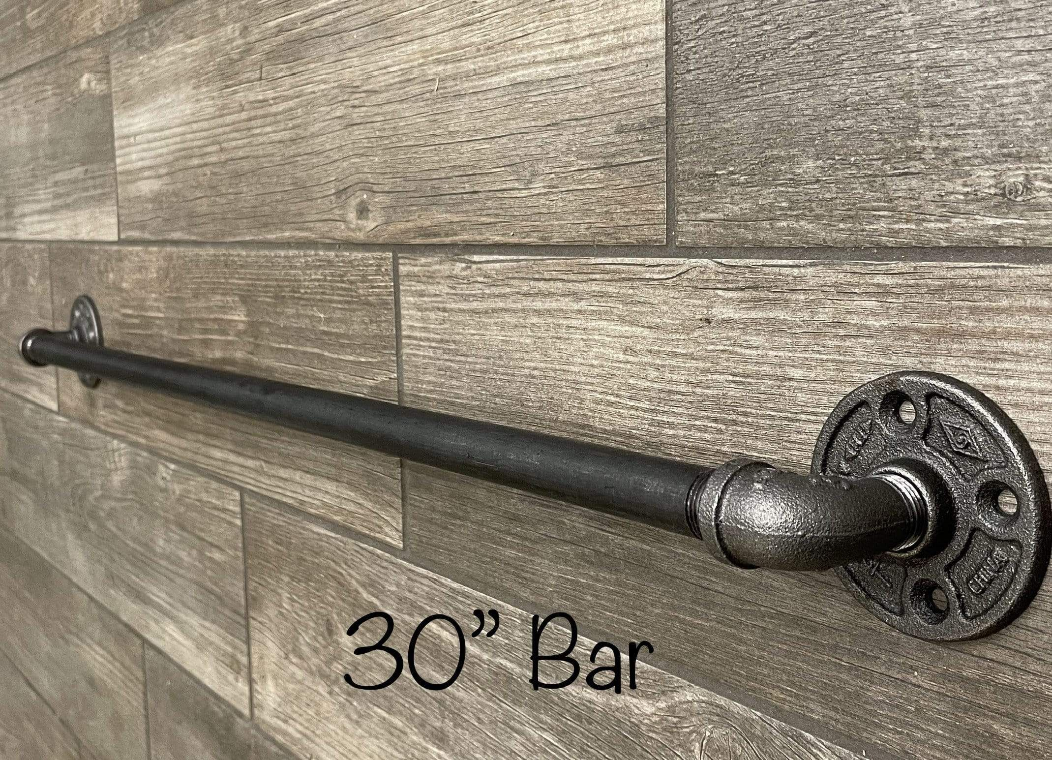 Photo of 30 Industrial Pipe Towel Bar – 1 / Satin Black
