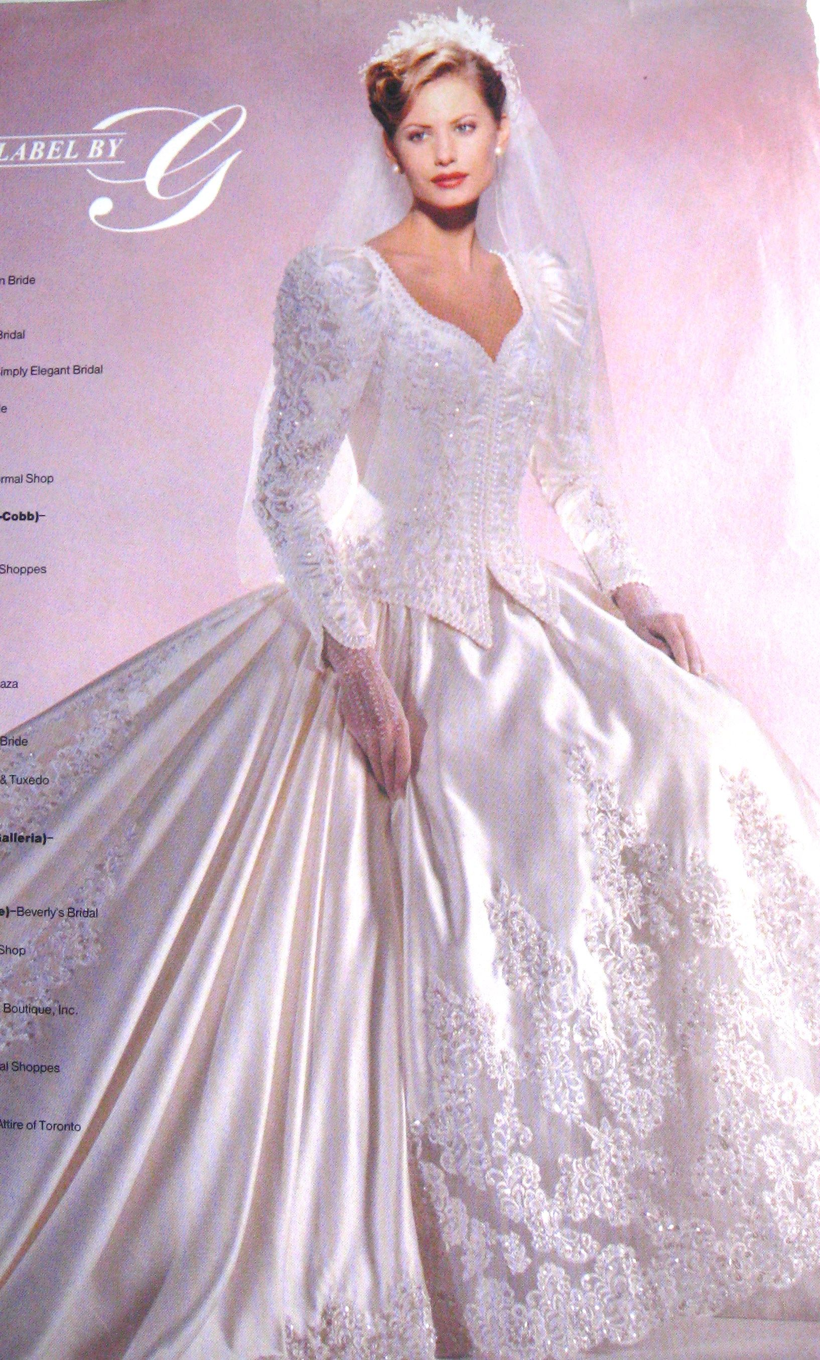 My gown, Private Label by G, 1997. Most beautiful dress ever. Donna ...