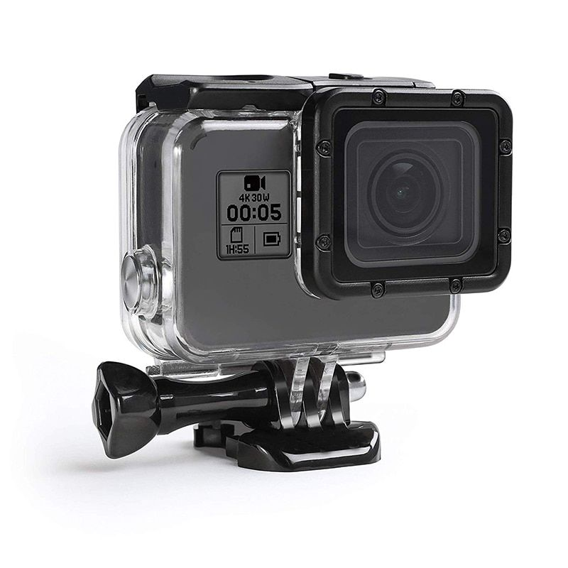 45m with Bracket Accessories Sea frogs Housing Case for GoPro Hero 7 White Waterproof Case Diving Protective Housing Shell Water Resistant up to 147ft