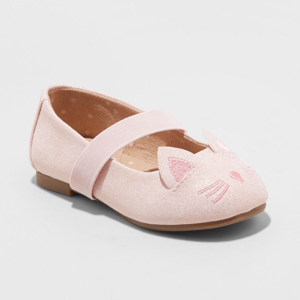 6b6736164ba You ll love these adorable Hassie Cat Critter Ballet Flats from Cat and Jack  almost as much as she does. The cat ears and embroidered nose and whiskers  are ...