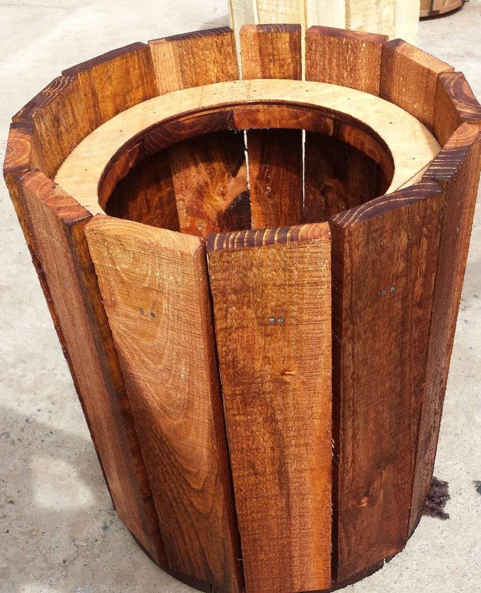 Maceteros de madera reciclable monadas pinterest - Maceteros de madera ...
