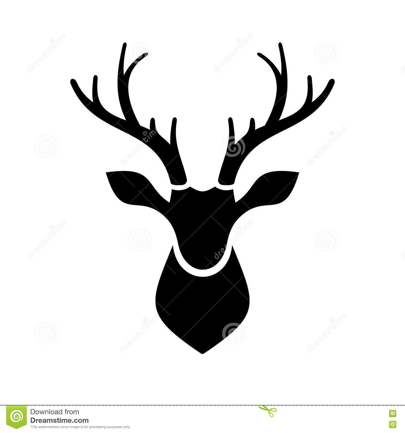 Deer Head Icon Vector Logo - Download From Over 41 Million High