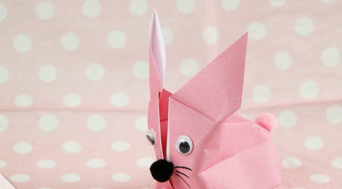 Origami Hase falten – Faltanleitung für einen Papierhase