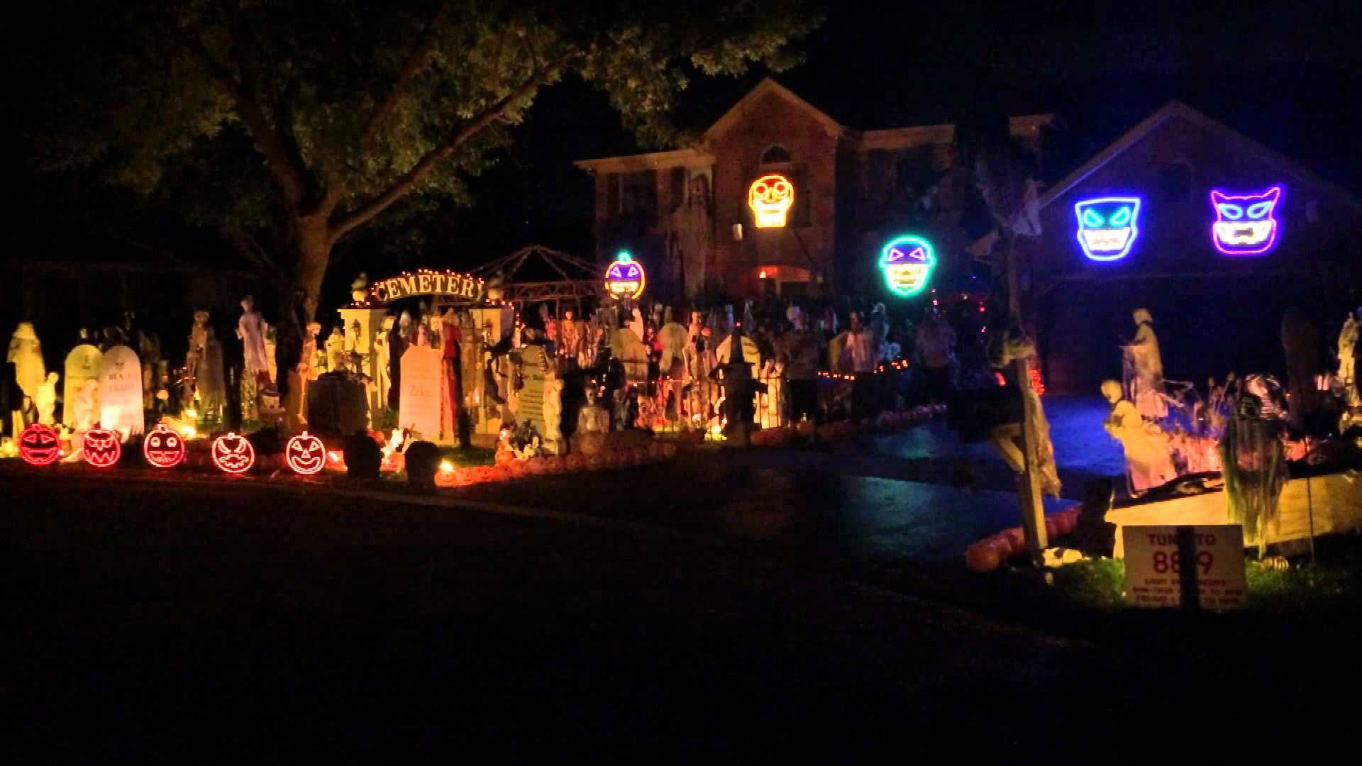 Halloween Light Show 2014, Michael Jackson, Thriller
