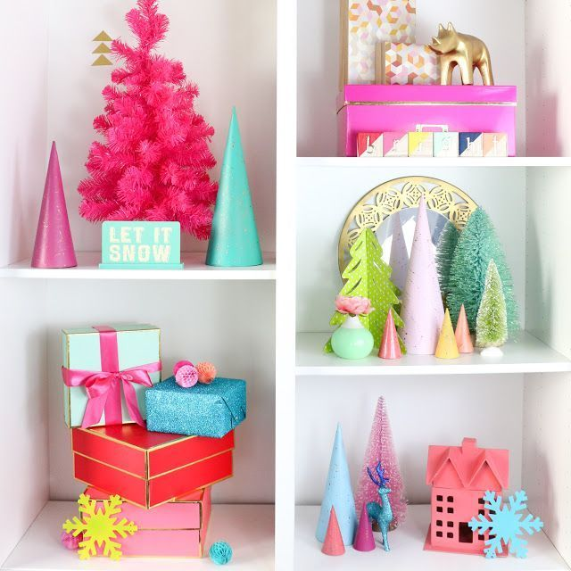 DIY It - Copper Splatter Painted Modern Christmas Trees - A Kailo Chic Life