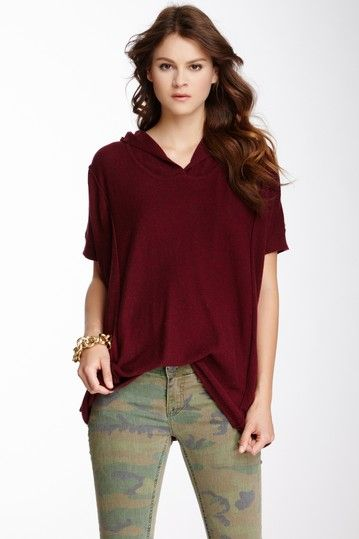 Short Sleeve Hooded Sweater by Love Stitch on @HauteLook