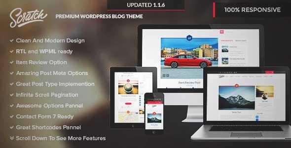 Download and review of Scratch - Premium Wordpress Blog Theme, one ...