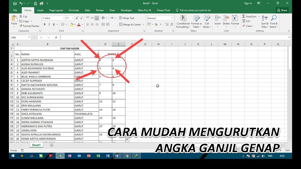 Tips Excel Cara Mengurutkan Angka Ganjil Genap