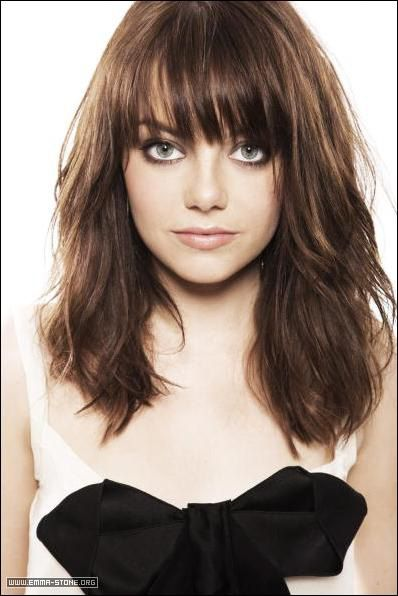 Emma Stone Hair Lengths Hair Styles Medium Length Hair With Bangs