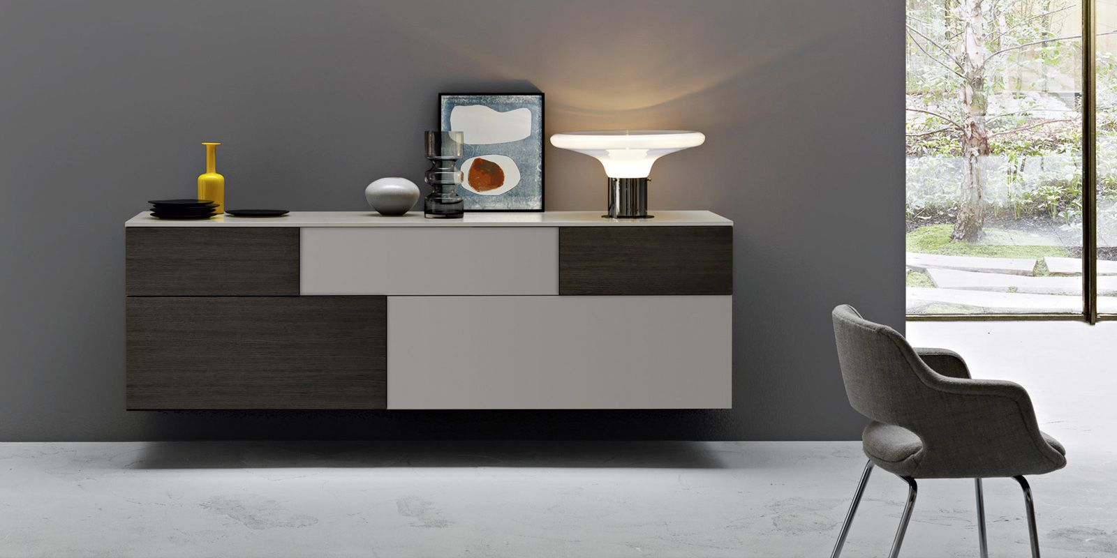 Incontro wall mounted sideboard by Sangiacomo | spaces of interest ...