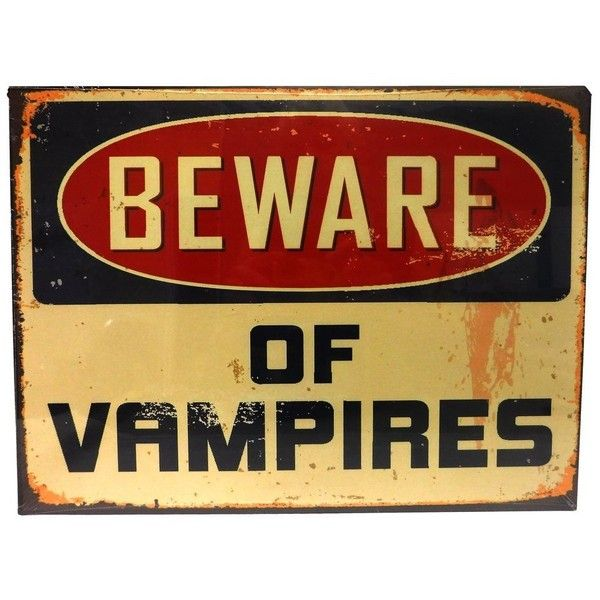 Amazon.com: Distressed Metal Warning Sign (Vampires): Home & Kitchen ...