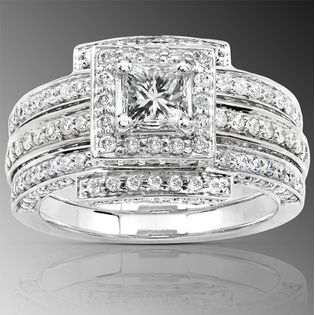 11 2 Carat Princess Round Diamond Rings Diamond Bridal Ring Sets Diamond Round Halo Diamond