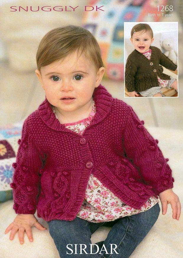 Cardigans in Sirdar Snuggly DK - 1268 | Baby girl ...