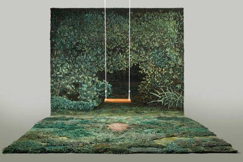 "Alexandra Kehayoglou, ""Shelter for a Memory"".100% Natural wool"