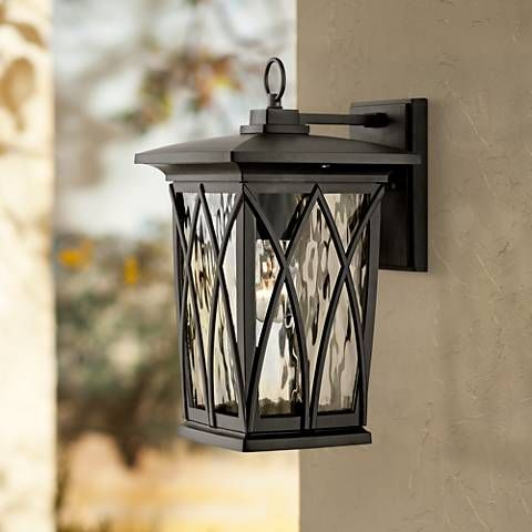 Quoizel Grover 14 1 2 H Mystic Black Outdoor Wall Light 8c989