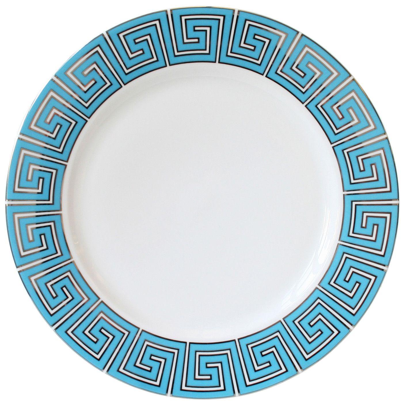 modern tableware  greek key dinner plate  jonathan adler  - jonathan adler greek key dinner plate  modern and classic