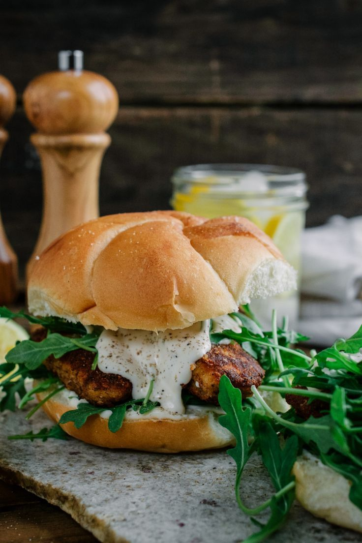Chicken Cutlet with Lemon Mayonnaise and Arugula Sandwich This Chicken Cutlet with Lemon Mayonnaise and Arugula Sandwich is the ultimate in flavor and crunch!