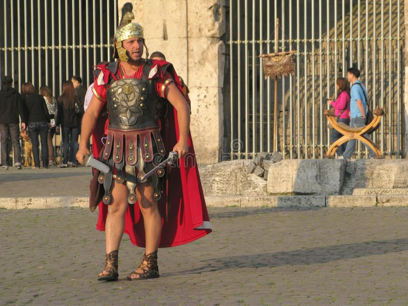 Gladiator in the arena of the Coliseum Roman