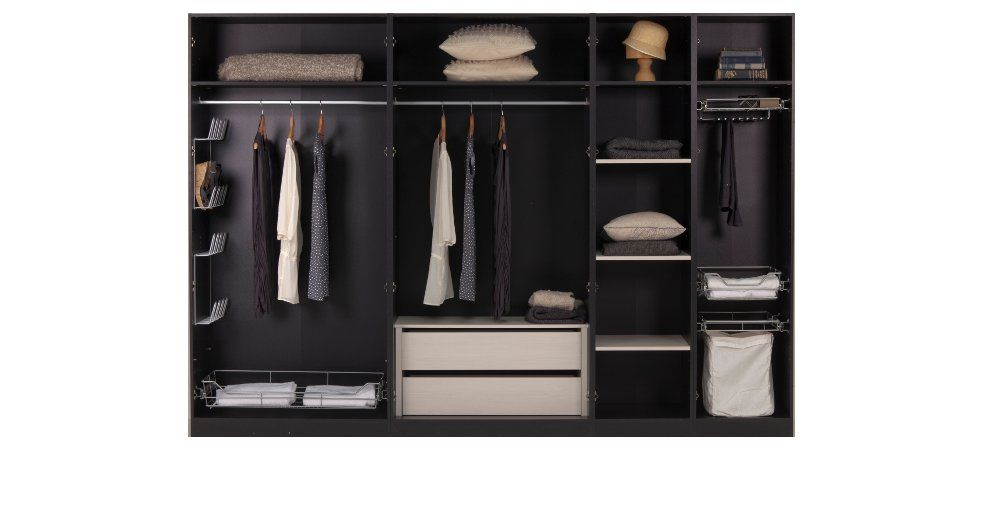 Internal wardrobe options available across the modular ...