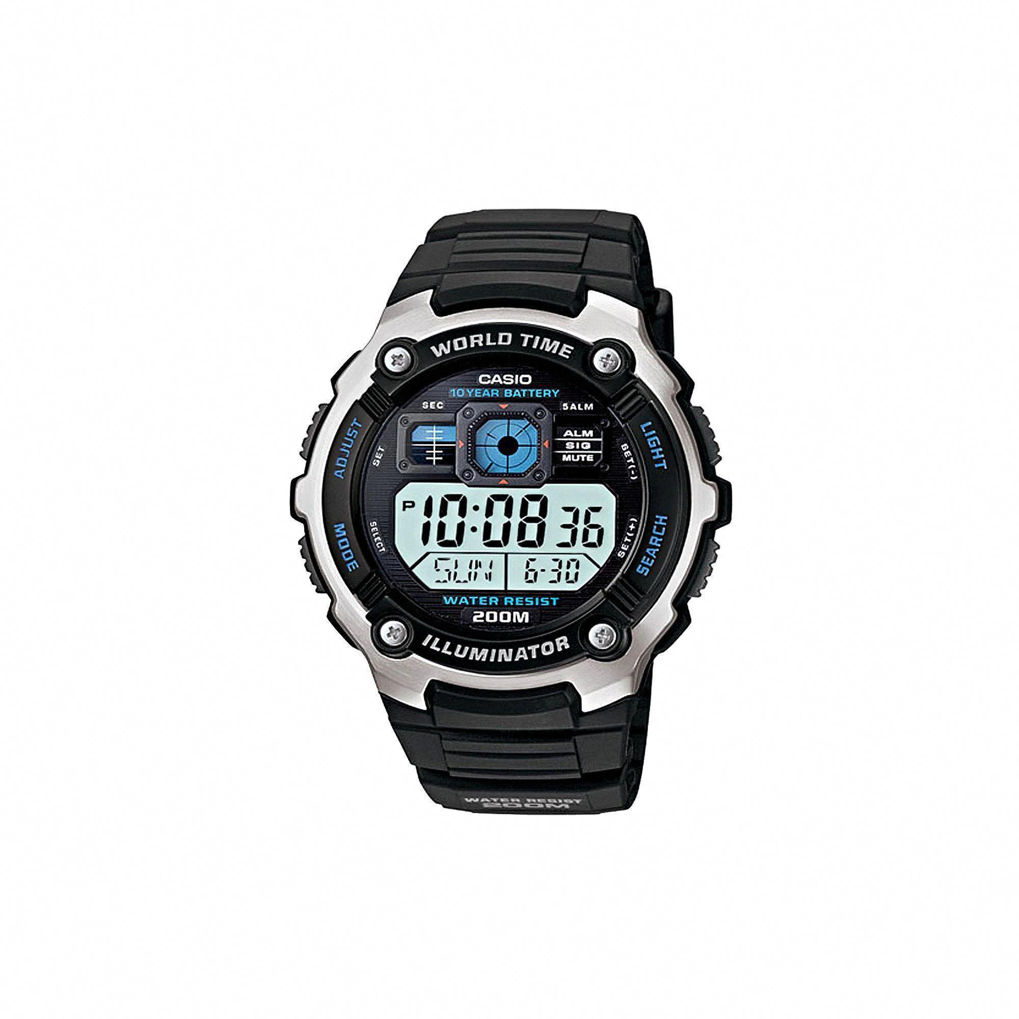 6199edb6a50 Casio Men s Illuminator Digital Chronograph Watch - AE2000W-1AV ...