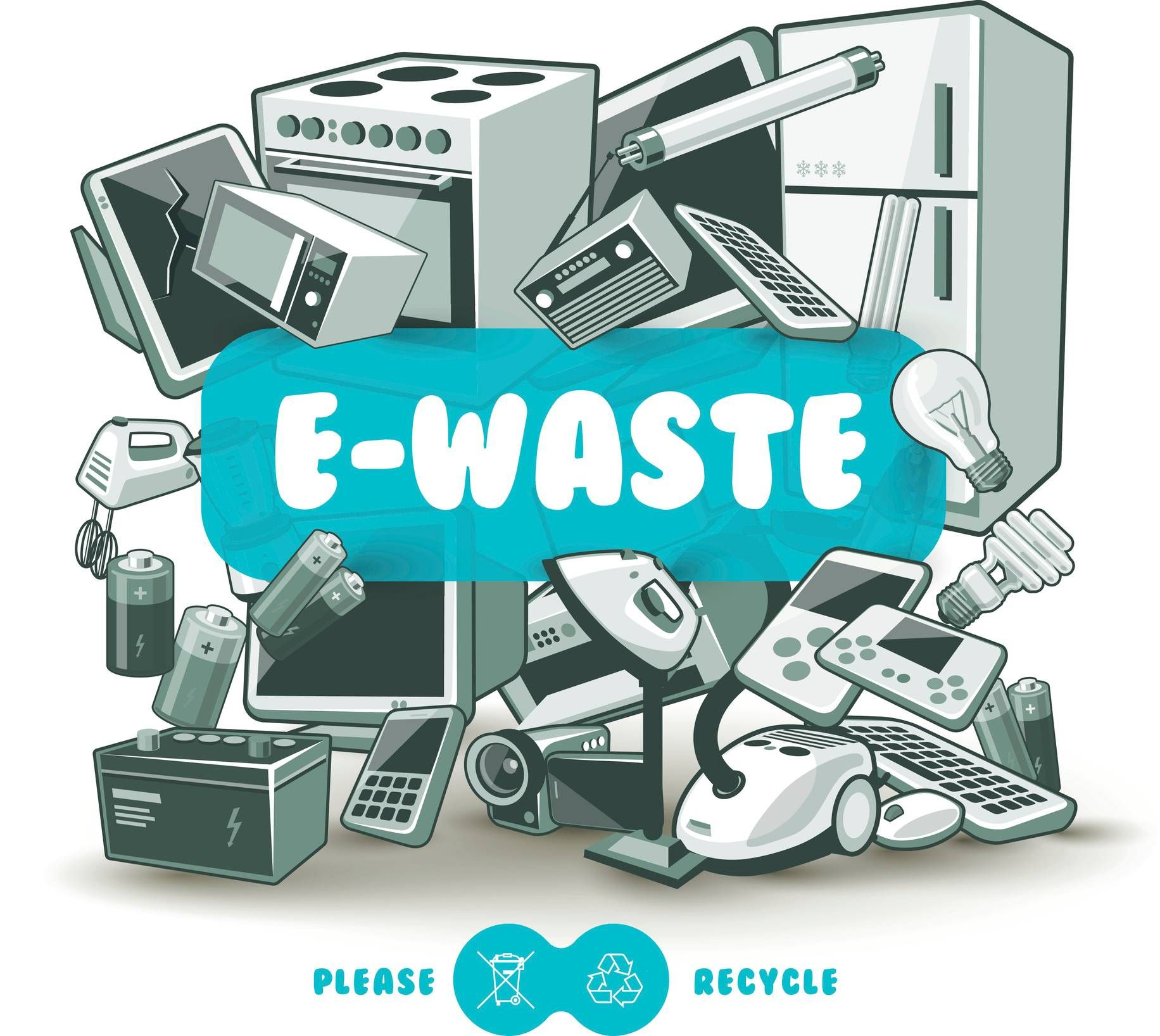 Tips To Choose A Reliable E Waste Management Service E Waste Recycling Red Sign Recycling