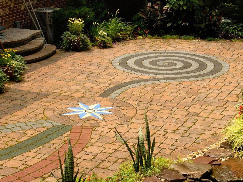 Brick Paver Swirl Yard Designs Google Search