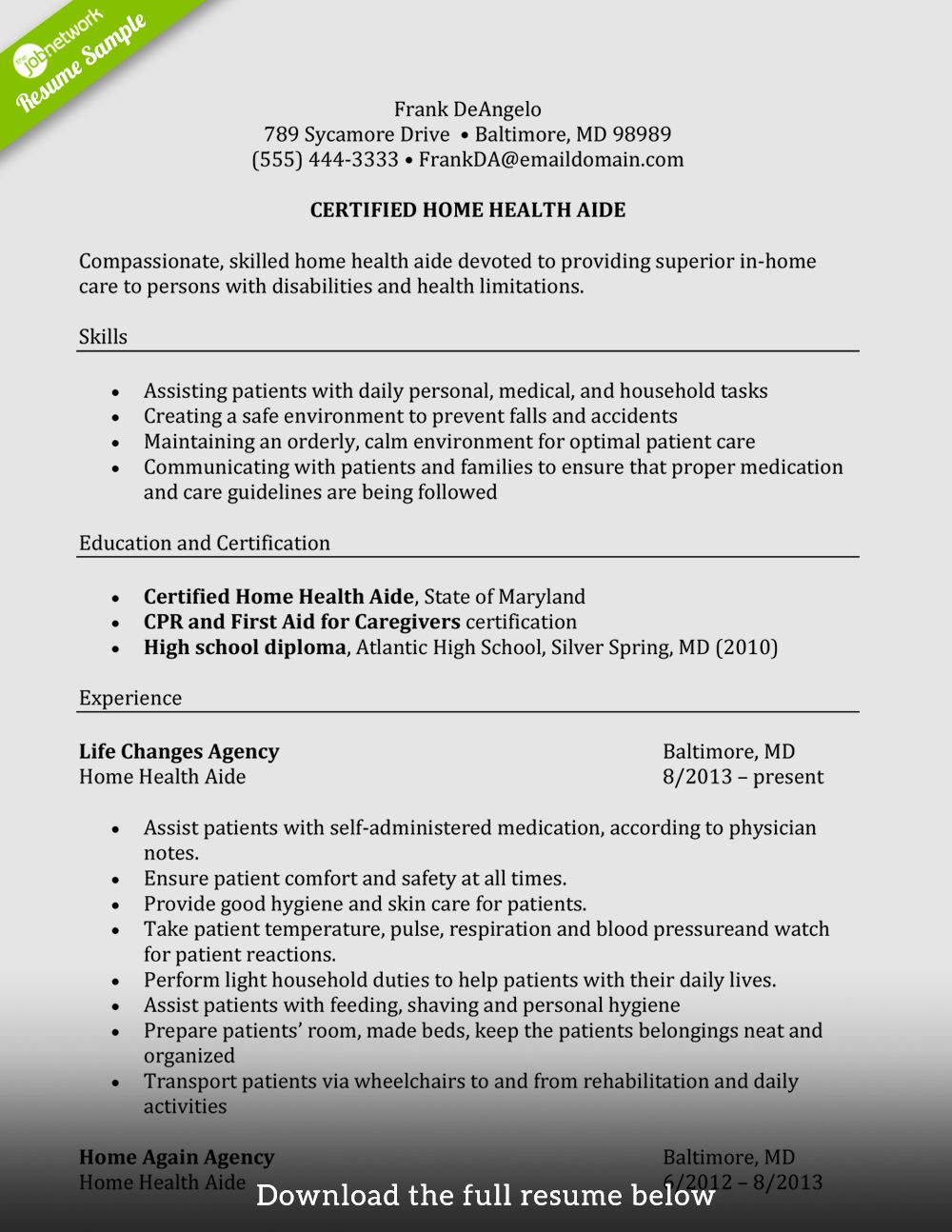 Resume Examples for Caregiver Skills Lovely How to Write A