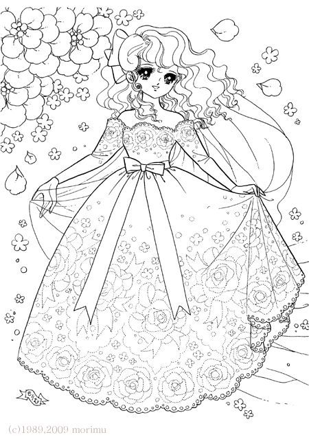 Coloriage shojo shoujo coloring coloriage colorier - Manga adulte gratuit ...
