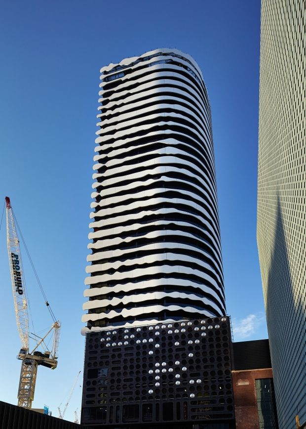 Portrait Of Indigenous Leader Etched Into 31 Storey