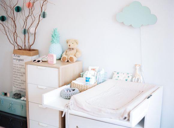 La chambre b b d 39 ella nursery agencement chambre b b chambre b b et chambre b b couleur - Agencement chambre enfant ...