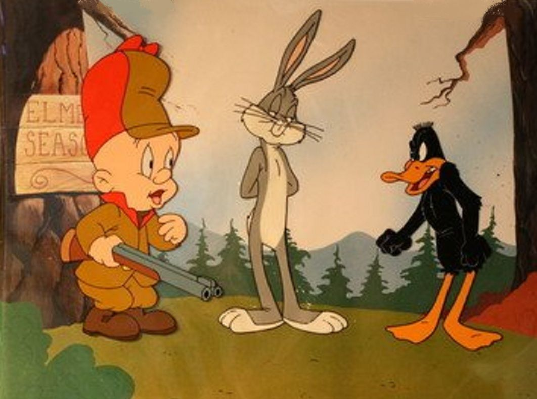 Elmer J Fudd Aim Is To Hunt Bugs Bunny Or Daffy Duck But