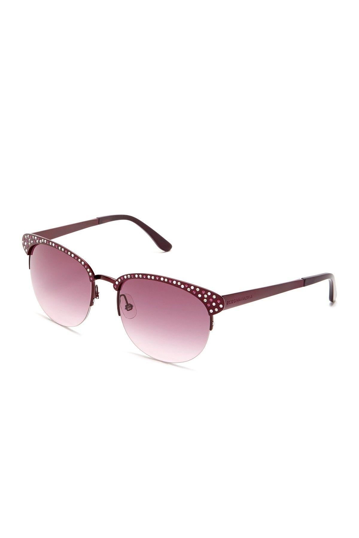 Rhinestone Trim Sunglasses by BCBGMAXAZRIA on @nordstrom_rack