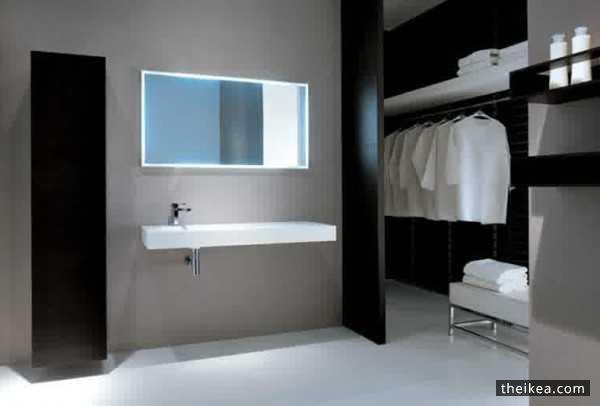 Bathroom Minimalist Design And Style With Nature Theme Httpwww Cool Bathroom Design Ikea Minimalist