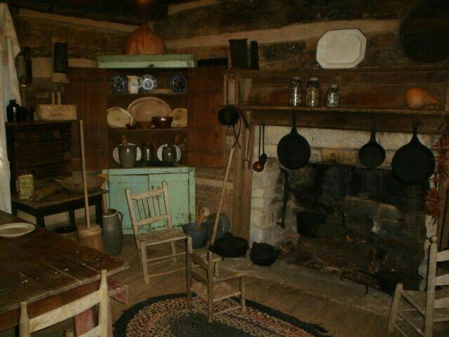 Bauernhaus Innenbereich, Vintage Farmhouse, Primitive Homes, Urtümliches  Dekor, Kabinenausstattung, Küchen Rustikal, Rustikale Küchen, Rustikale  Kamine, ...