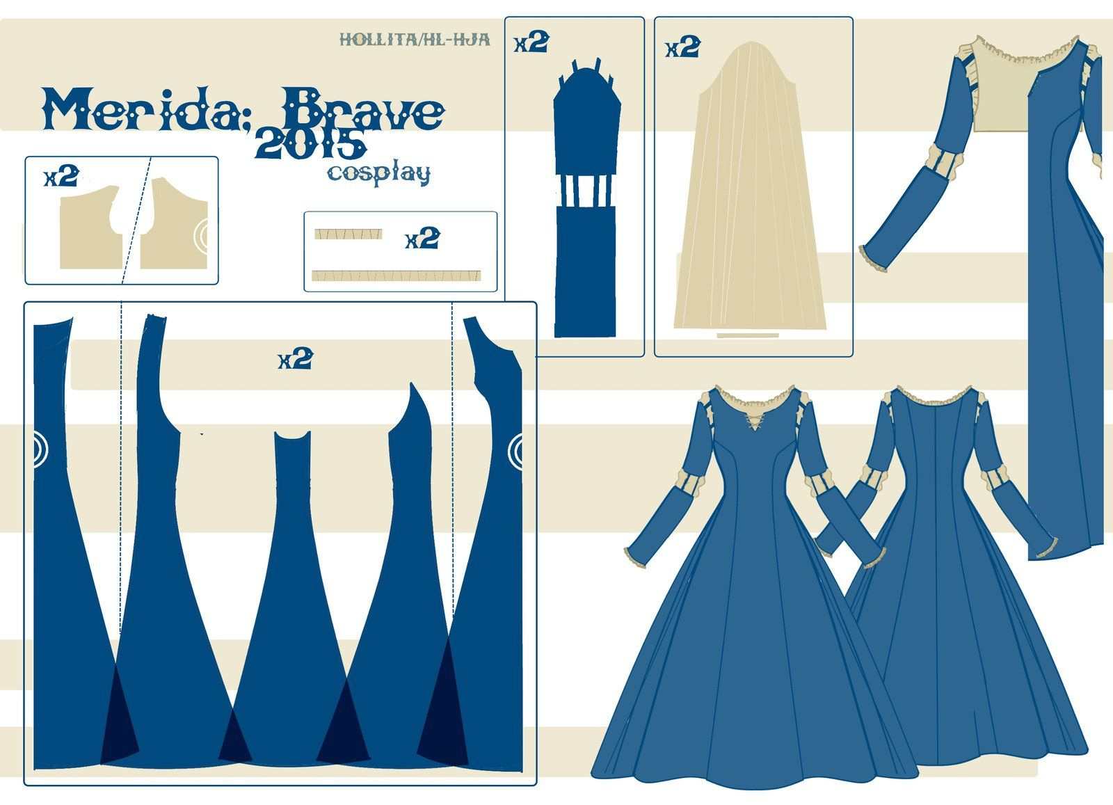 Merida - Pattern Draft by Hollitaima.deviantart.com on @DeviantArt ...