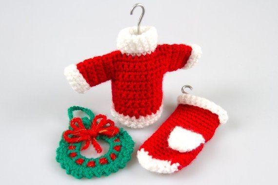 Photo of Free Crochet Pattern Amigurumi Christmas Crochet Patterns Crochet Decor Pattern Crochet Wreath Crochet Sweater Pattern Crochet Gloves P015