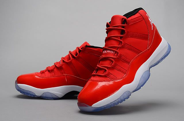 Mens Air Jordan 11 Retro Shoes Monocolor Red