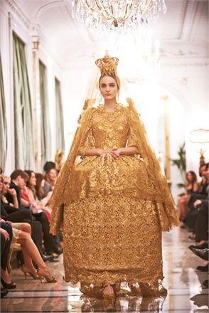 Dolce & Gabbana haute couture Baroque style
