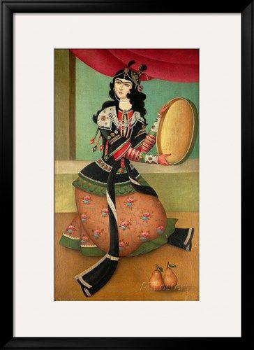 Iranian Qajar Woman Painting by Hojat Shakiba