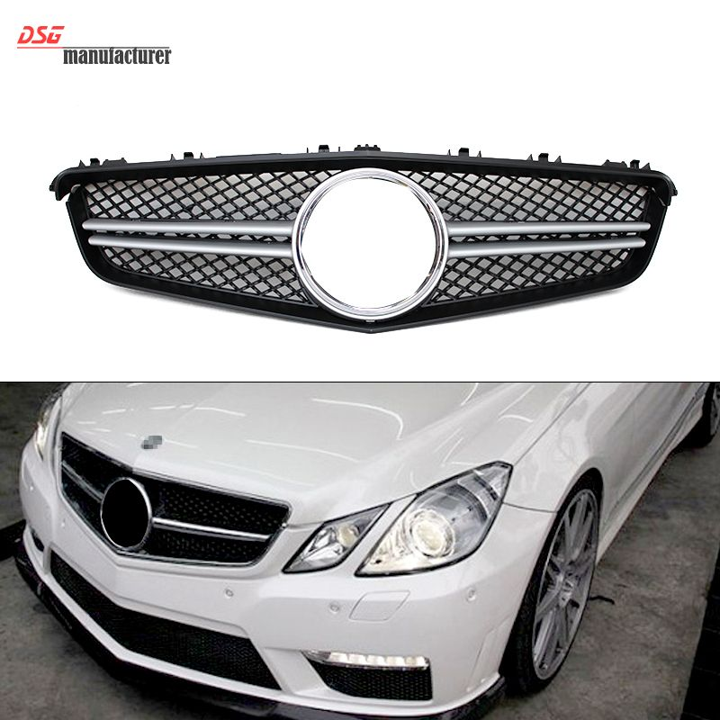 Mercedes E Class W207 Coupe Amg Look 2 Fin Grill Grille Silvery For Benz 2010 2013 E350 E550 E250 Mercedes E Class Mercedes Coupe