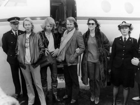 Abba At Airport Photographic Print Art Com What Is A Portrait Vintage Music Posters Vintage Music