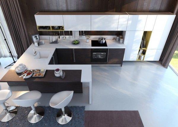 Modernes Küchendesign beruht auf Kontrast | Pinterest | Moderne ...