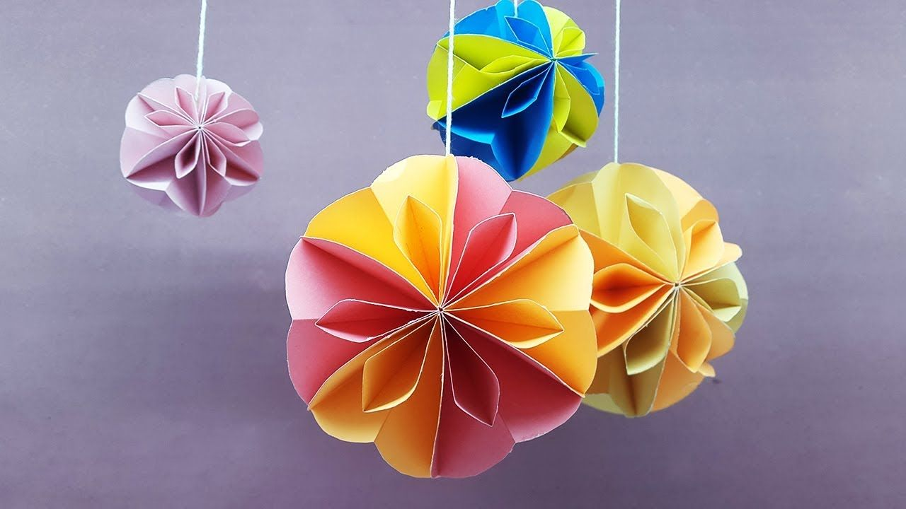 How To Make Paper Ball For Decoration Paper Crafts Honeycomb Ball