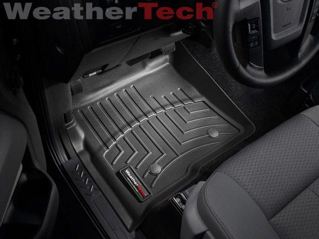Weathertech Floor Mat Floorliner For Ford F 150 Supercrew 2010 2014 Black Ford F150 Ford Trucks Weather Tech Floor Mats