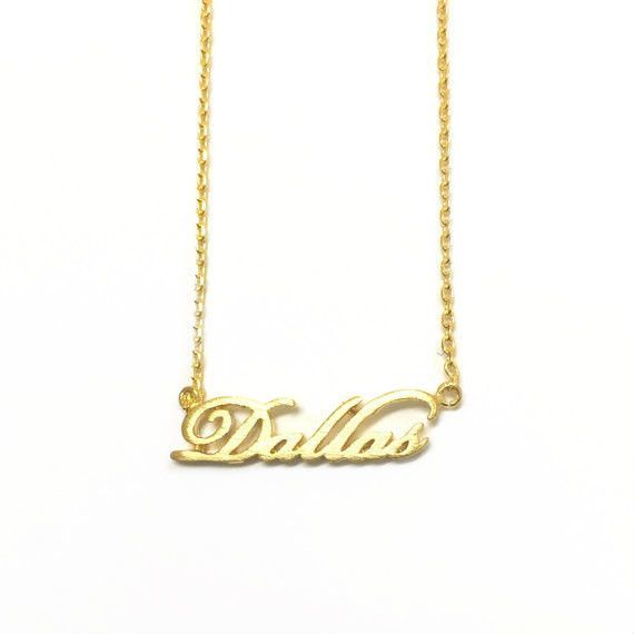 "Tiny Gold ""Dallas"" Necklace"