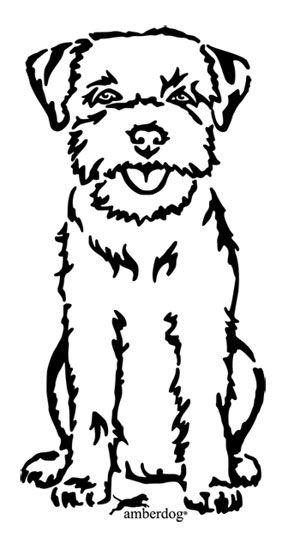 Kleurplaat Cavalier King Charles Spaniel Border Terrier Appliqu 233 Terrier Hund Zeichnungen