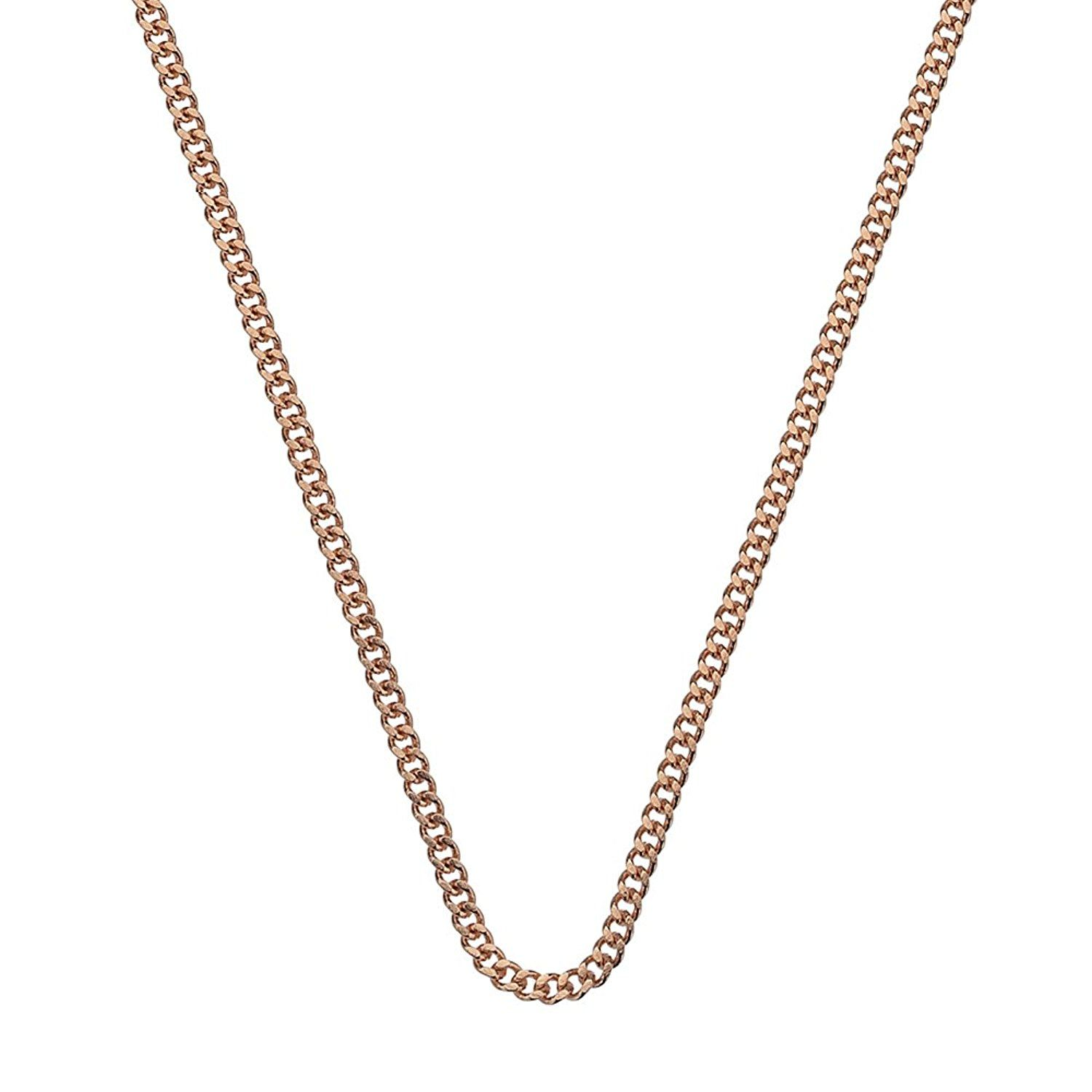 Emozioni Rose Gold Plated Sterling Silver Belcher Chain of 89cm tUDMNjKG