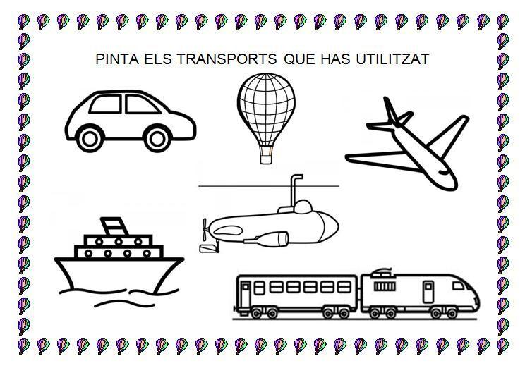 Mes Fitxes Dels Transports Medios De Transporte Transporte Materiales Didacticos